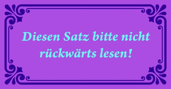 satz-rueckwaerts