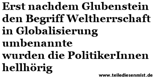 Glubensteins Welt 15